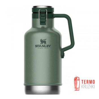 Термос для пива Stanley Easy-Pour Growler Hammertone Green 1.9 л