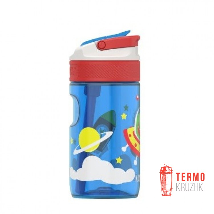 Бутылка детская Kambukka Lagoon 400 мл Happy Alien синяя (11-04018)