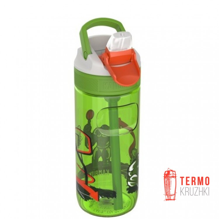 Бутылка детская Kambukka Lagoon 500 мл Basket Robo зеленая (11-04020)