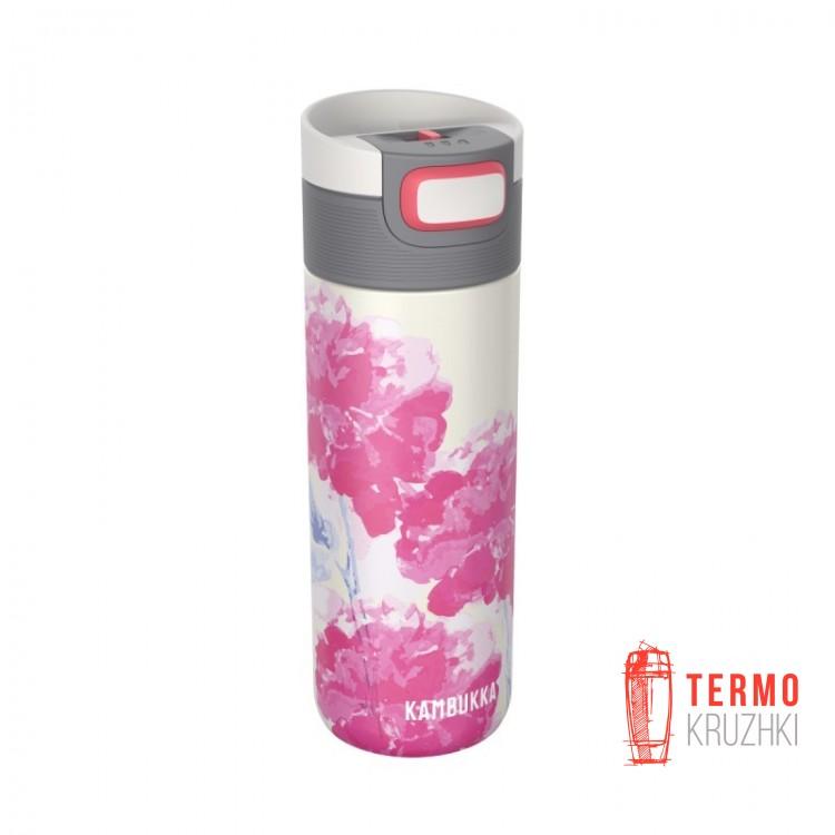Термокружка Kambukka Etna 500 мл Pink Blossom розовая/белая (11-01020)