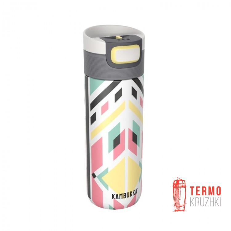 Термокружка Kambukka Etna 500 мл Tribal Shibori белая/желтая (11-01021)