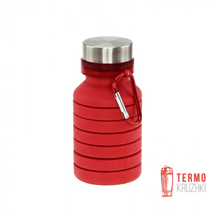 Бутылка для воды Bergamo PAGODA силиконовая, 550 мл-3000B красная