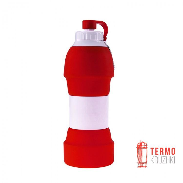 Складная бутылка для воды Bergamo TEMPO, 580 мл-2950B красный