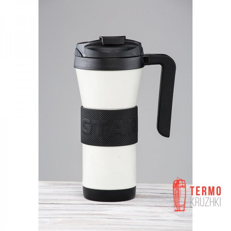 Термокружка Starbucks Stainless Steel Tumbler Grip Handle 473 мл White оригинал