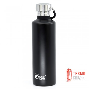 Бутылка для воды Cheeki Classic Single Wall 750 ml Matte Black - Уценка