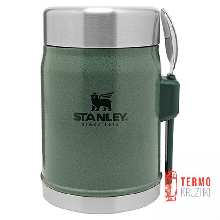 Термос пищевой с ложкой Stanley Legendary Classic  0.4 л Hammertone Green