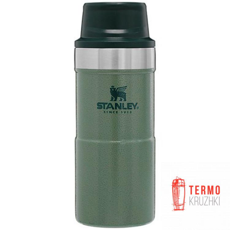 Термокружка Stanley Classic Trigger Аction Travel  0.35 л Hammertone Green