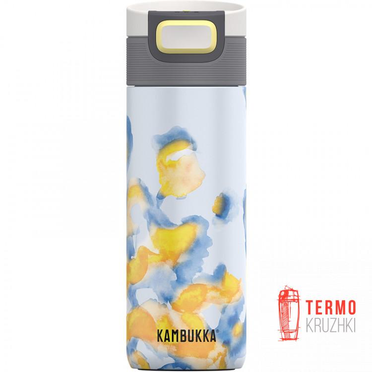 Термокружка Kambukka Etna 500 мл Jungle Sunrise голубая с желтым (11-01031)